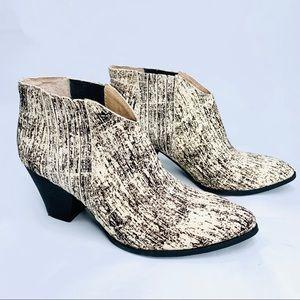 SPLENDID Booties Sz 8 Pony Hair Leather Ankle Boot